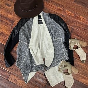 Blank NYC Dating & Waiting Drape Front Jacket
